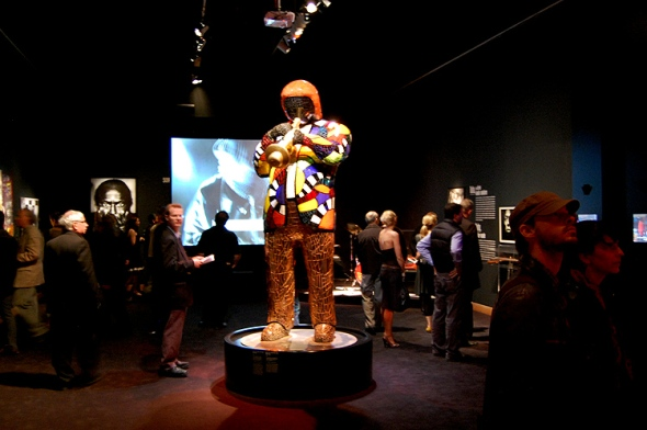 Sculpture of Miles Davis by Niki de Saint Phalle