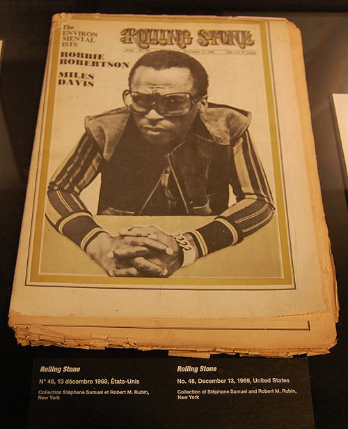 MIles on the cover of the newsprint Rolling Stone.